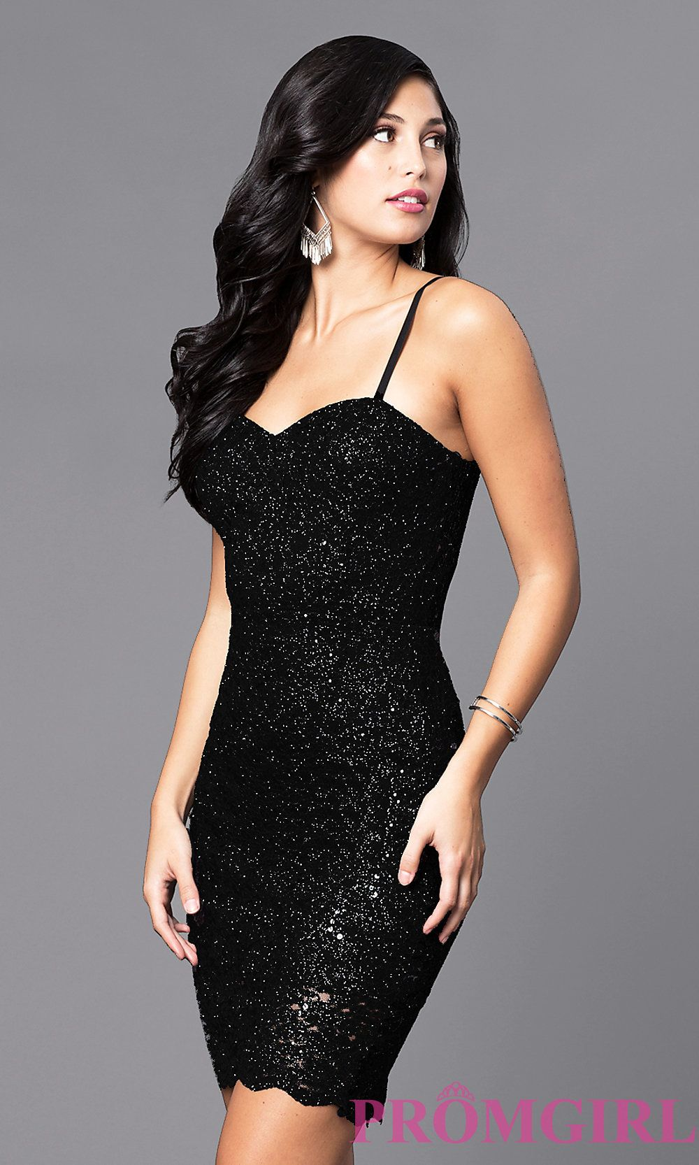 0648b57586e Short Holiday Party Dress with Sequined Lace. I like Style AS-i567329N4  from PromGirl.com