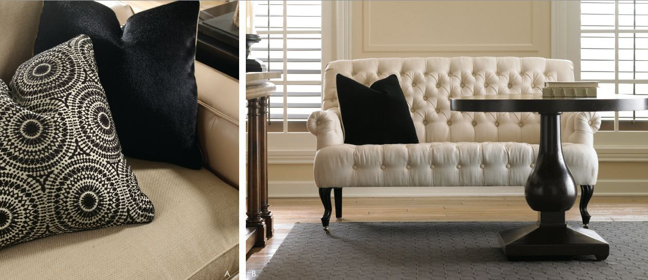 Product: Tuft Luck Sofa Tuft luck is an excellent example of your good fortune. Inspired by an antique settee, it's an upholstery accent piece that's traditional - all the way from it's button tufting to it's cabriole legs.