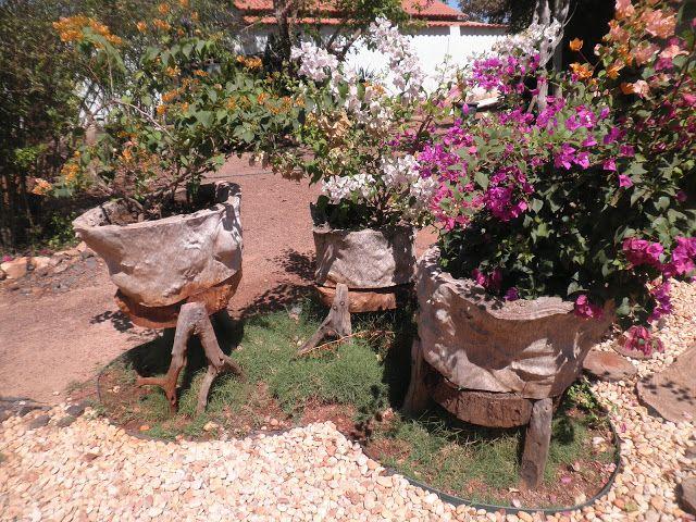 macetas jardines rusticos Diseño de jardines Pinterest Backyard