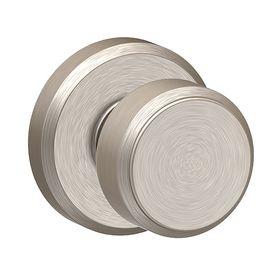 schlage bowery satin nickel dummy door knob f170 bwe 619 gsn