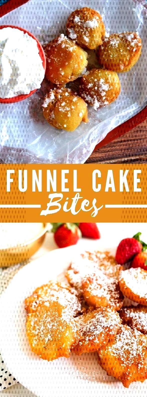 Funnel Cake Bites Recipe - Yummy Chocolate amp Dessert - - vegan Funnel cake -