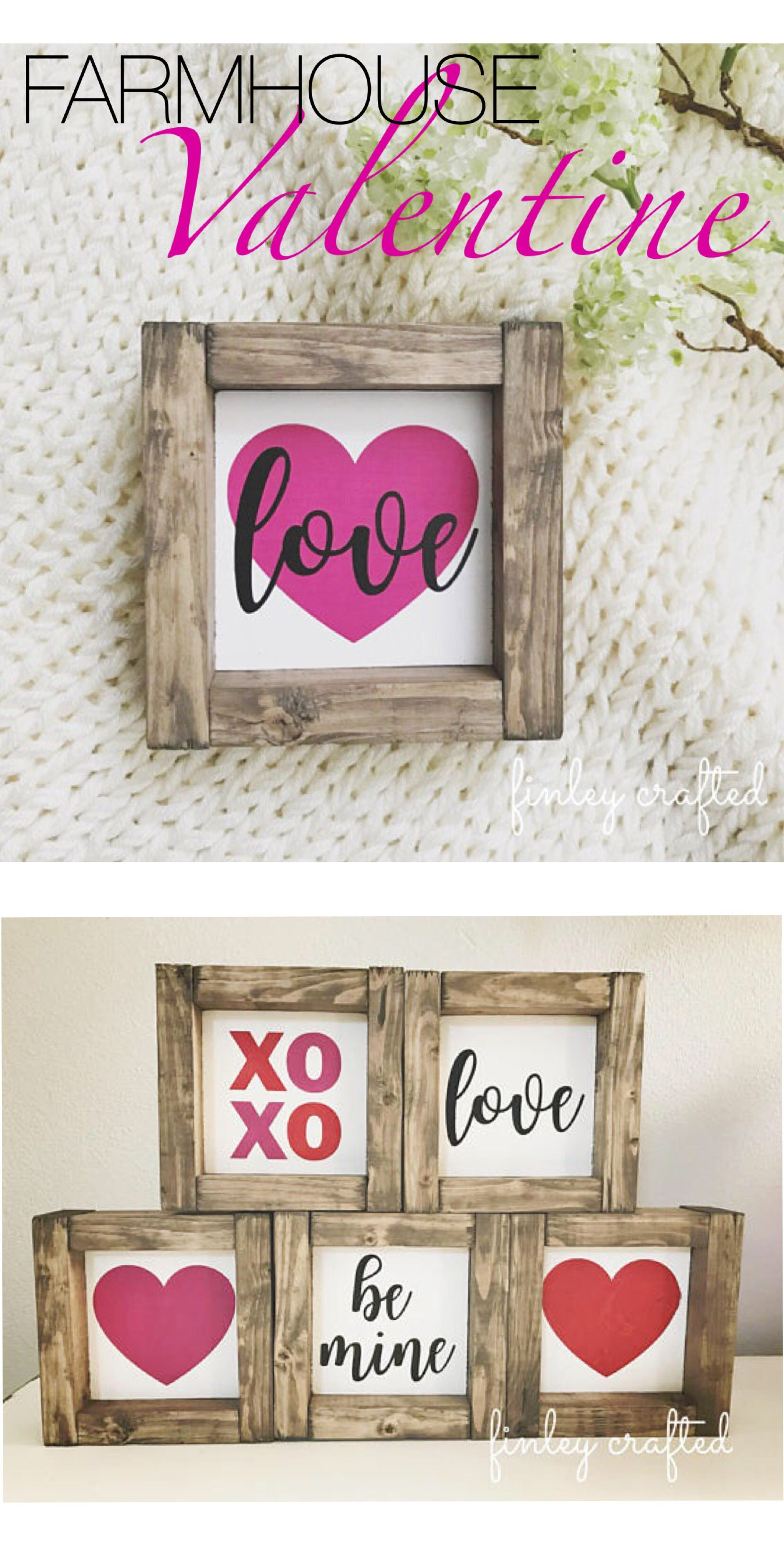 Farmhouse Style Valentines Rustic Decor Ad Love The Mix Of Pink