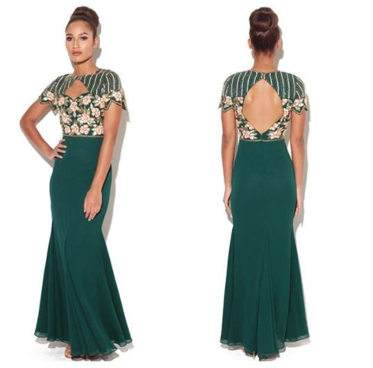 d9f72358f62 Virgos Lounge Green Hannah Sweetheart Embellished Party Gown Maxi Dress 6  to 14  VirgosLounge  MaxiDress  SpecialOccasion