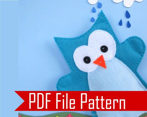 Owl Hand Puppet Pattern, Sewing pattern - PDF ePATTERN Instant ...