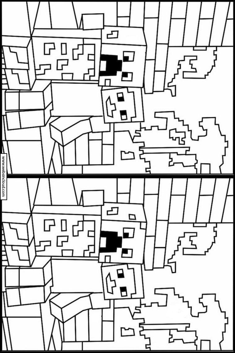 Minecraft 9 Cerca Le Differenze Attivita Per Bambini Da Stampare Nel 2020 Minecraft Attivita Per Bambini Giochi