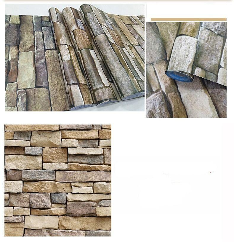 Papel Tapiz Piedras Laja Adhesivo 45cm X 10 Mts 3d 499 00 En