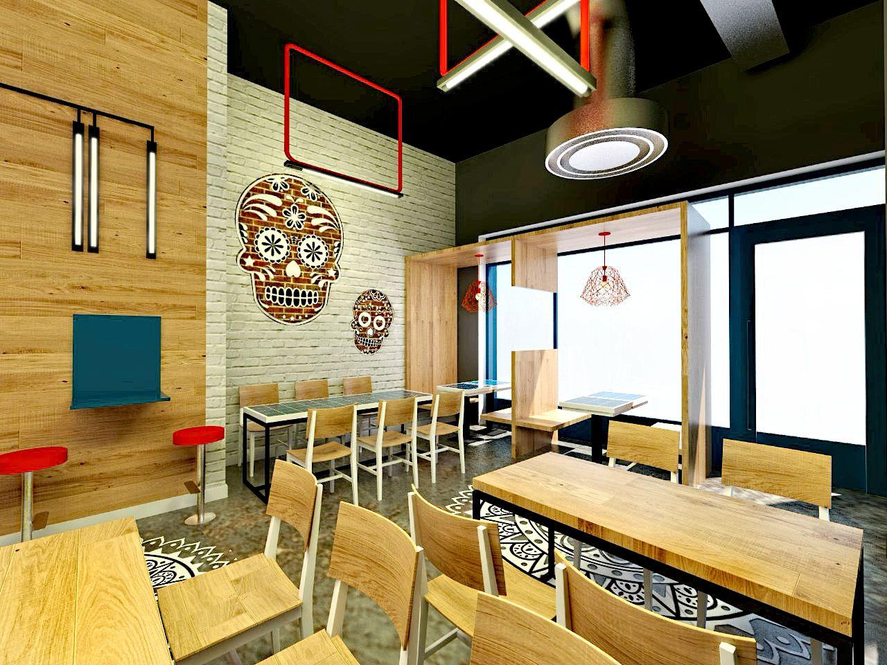 Restaurant Design - Render - Jean Prouve Chair - Bespoke Furniture ...