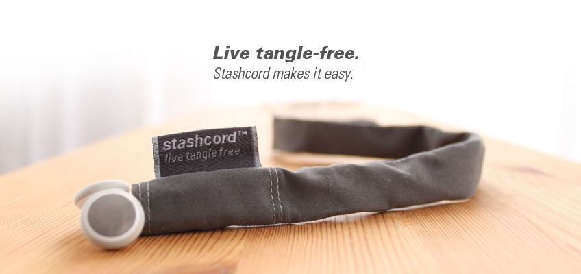 stashcord - the coolest way to keep your earbuds tangle free $13