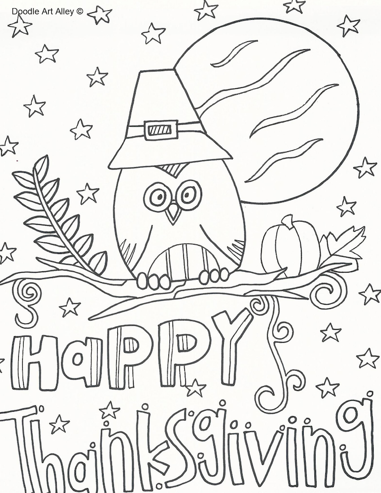 Thanksgiving Coloring Pages | Word search, Thanksgiving and Activities