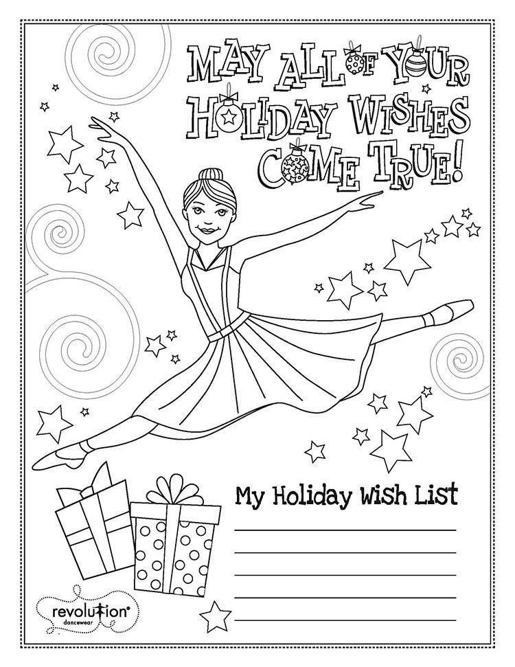 2014 Holiday Coloring Page Dance Coloring Pages Detailed