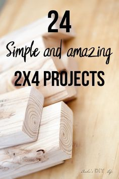 24 Simple and Amazing 2x4 Wood Projects