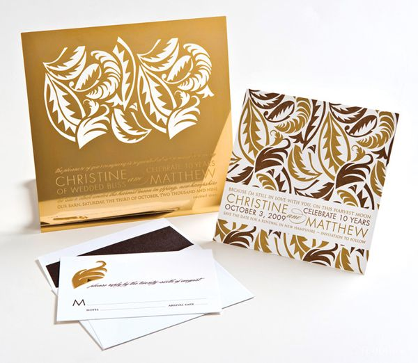 Etched metal wedding invitations absolutely STUNNING