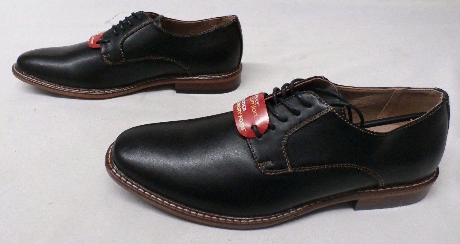 f5497cf9f7a415 Dexter Men s Alec Plain-Toe Oxford Shoes Black GG8 Size 9
