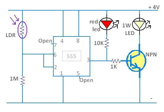 Make a simple led night light using a 555 timer httpwww make a simple led night light using a 555 timer http sciox Image collections