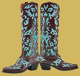Filigree boots
