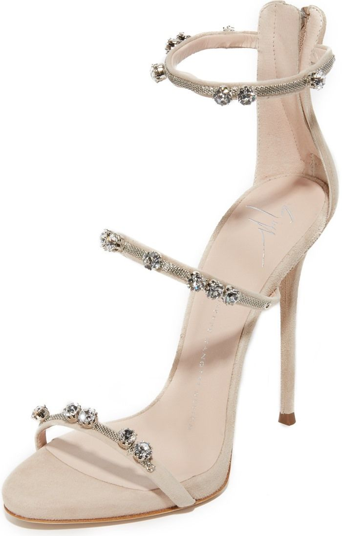strappy crystal beaded heeled sandals - Metallic Giuseppe Zanotti mL3jViMGj