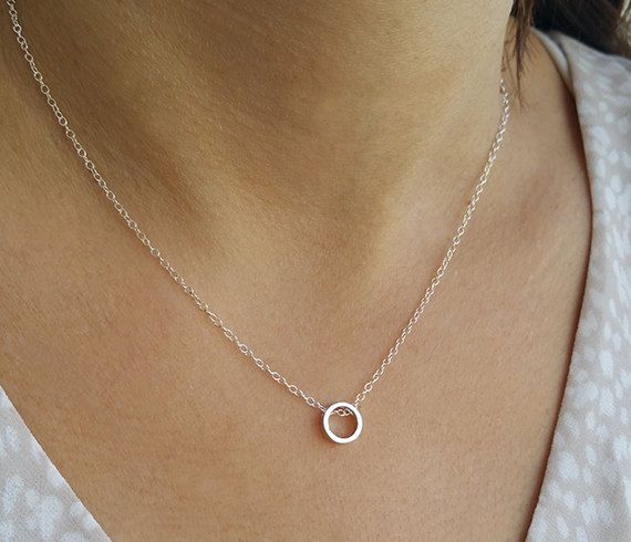 Silver Chain with Circle charms