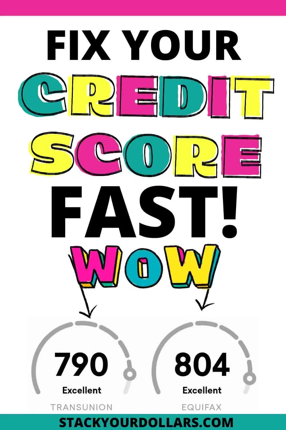 These credit repair tips will show how to fix your credit score fast! I share all the credit tips and hacks I know to help you get a better credit score like yesterday! Once you know how to improve your credit score fast, it's just a matter of time before you boost your credit score to the 800s! Better credit can be an asset, so check out these tips so you can raise your credit score quickly! #creditscore #boostcredit #creditrepair #stackyourdollars #raisecredit