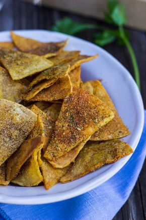 Homemade Cool Ranch Doritos {plant-based, gluten free}