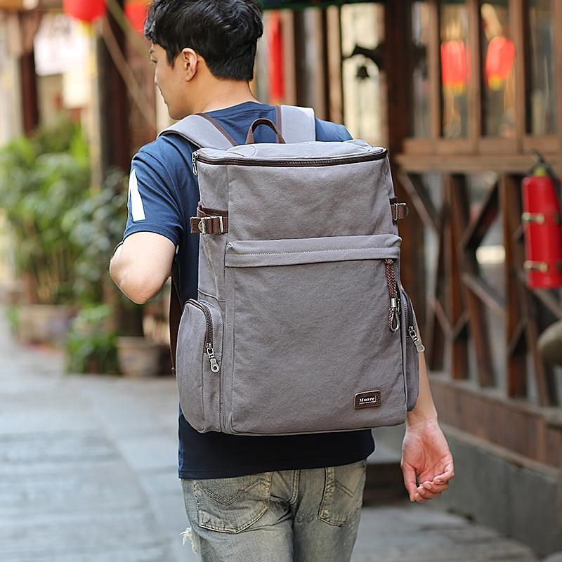 3b014c2025a1 Description: Vintage canvas backpack from Muzee. All Muzee products ...