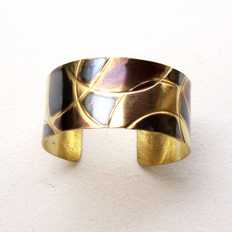 adjustable bracelet,Handmade wide bracelet Metalwork jewelry gold metal bracelet Hammered bracelet Cuff bracelet Hammered brass