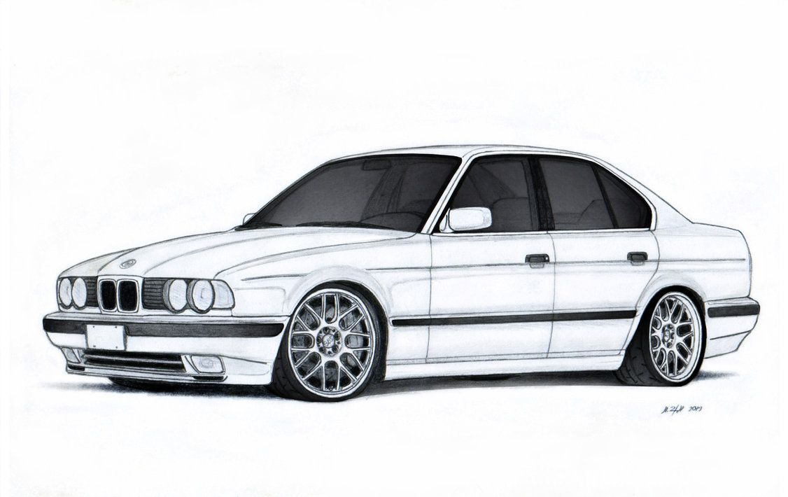 BMW 540i E34 Drawing by Vertualissimo.deviantart.com on @DeviantArt ...