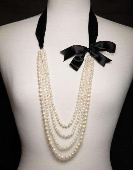 Fotos de collares largos de perlas