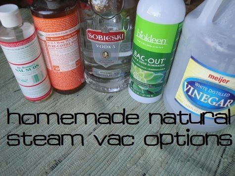 Homemade Natural Carpet Cleaner For Steam Vacuums