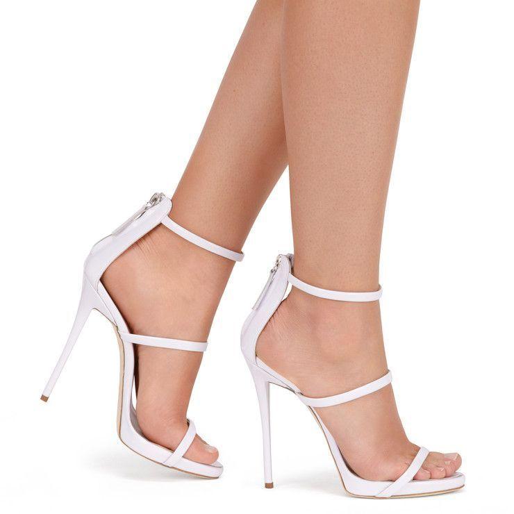 HARMONY WHITE Sandals | Stiletto heels