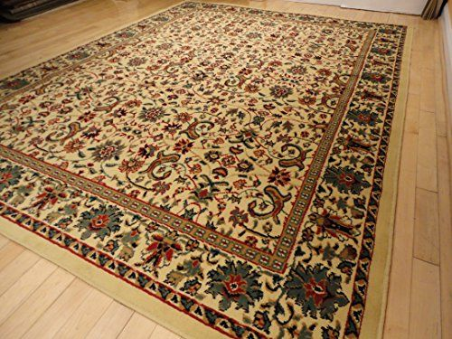 Large 5x8 Traditional Cream Rug Persian Area Rugs Dining Room Carpet