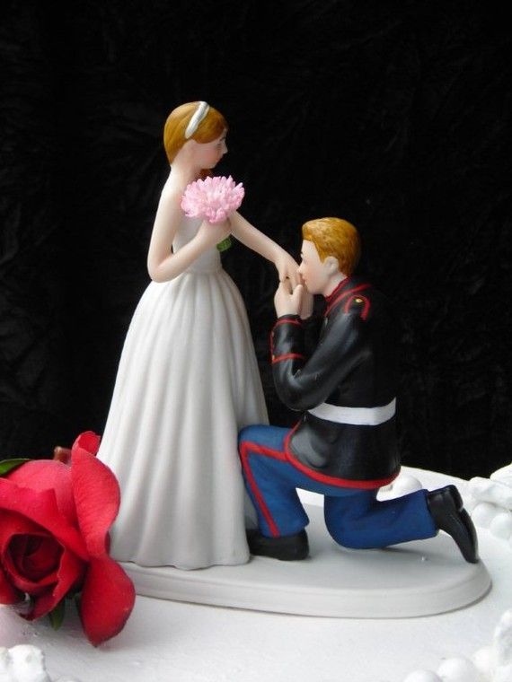Marine Corps MILITARY USMC prince wedding cake topper KNEEL | Marine ...