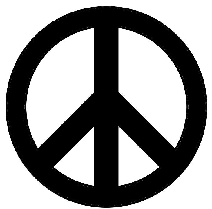 Peace Sign Stencil | Printable stencils, Stenciling and Peace