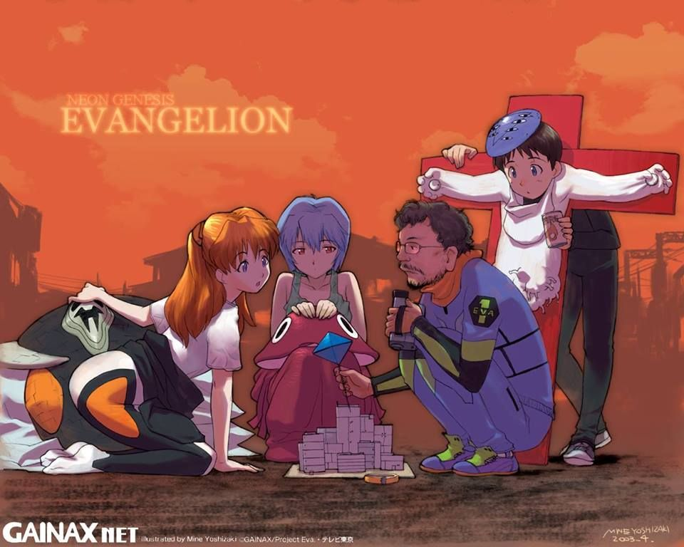 Evangelion fanart soryu asuka langley ayanami rei anno