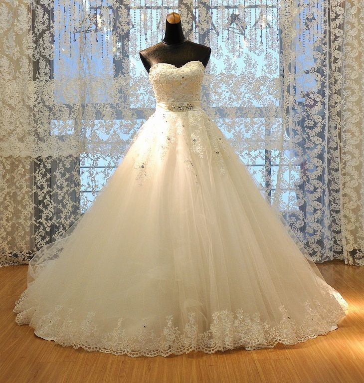 Princess Bride Tube Top Wedding Dress New Arrival 2014 Plus Size Wedding Gown Royal Wedding Dress Sweetheart Wedding Dress Ball Gown Wedding Dress