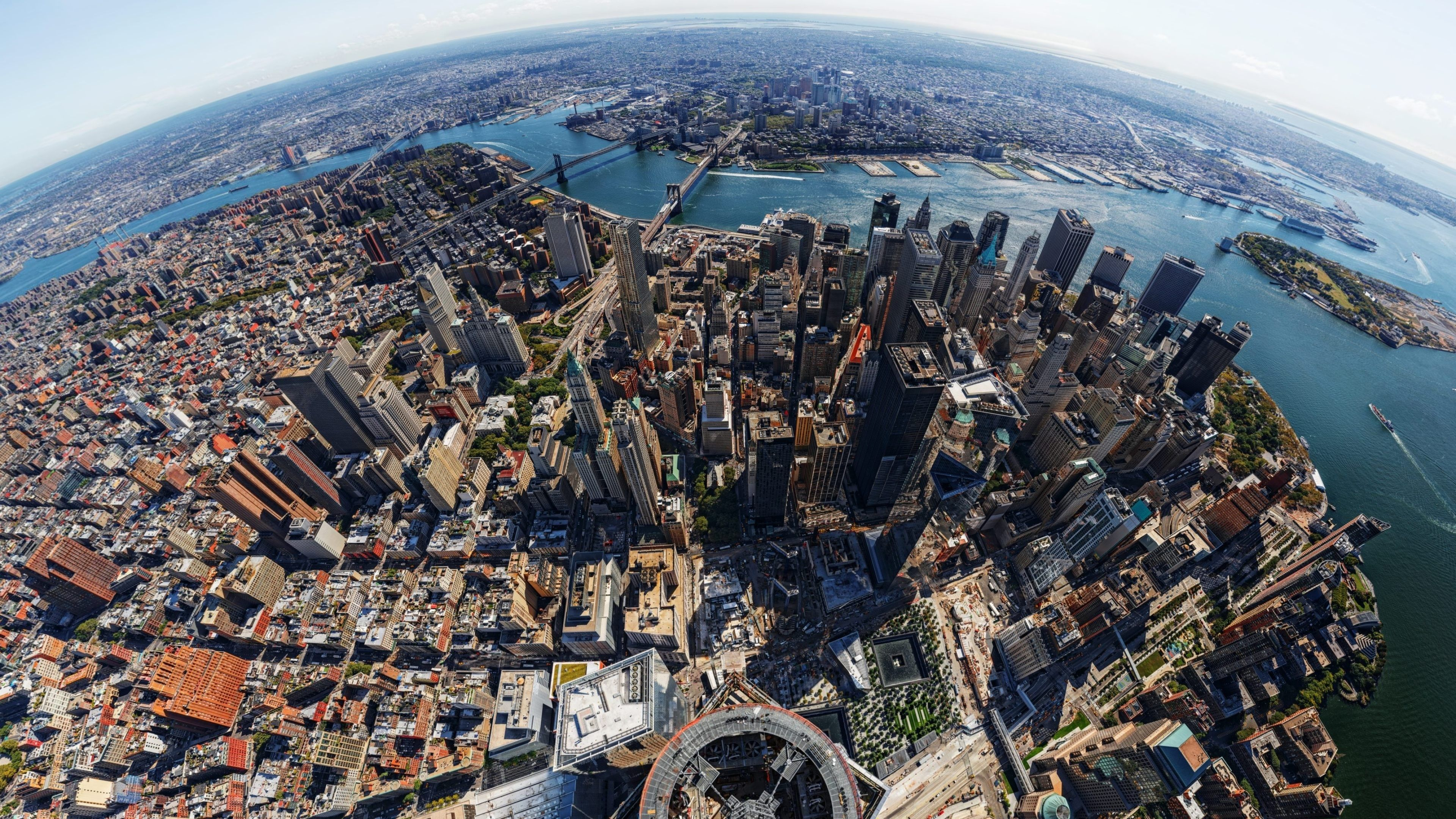 New york usa aerial view 4k ultra hd wallpaper for La fenetre panoramique