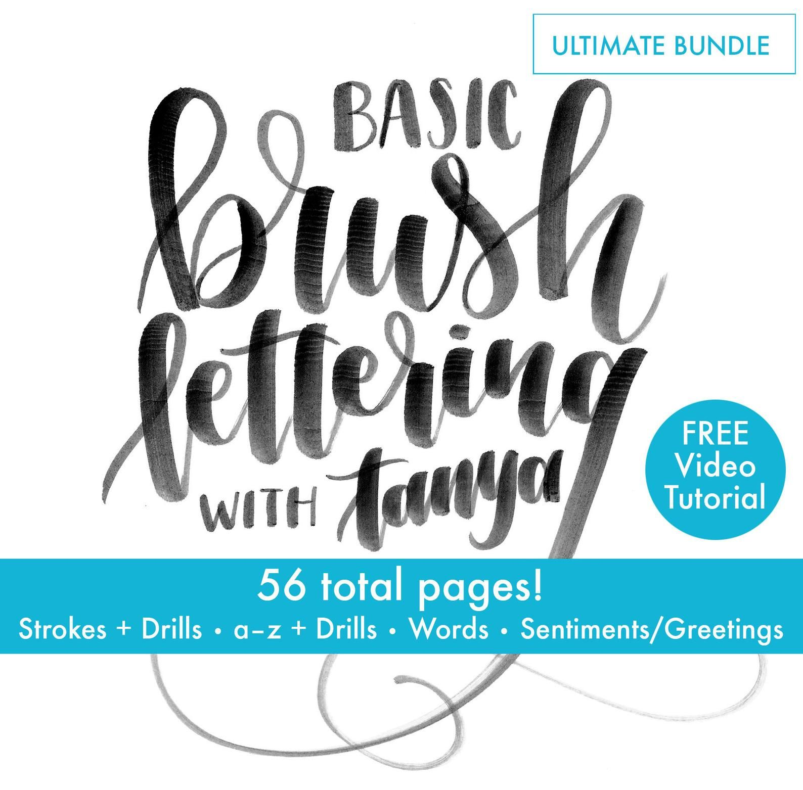 For Beginners Ultimate Bundle Brush Lettering Brush