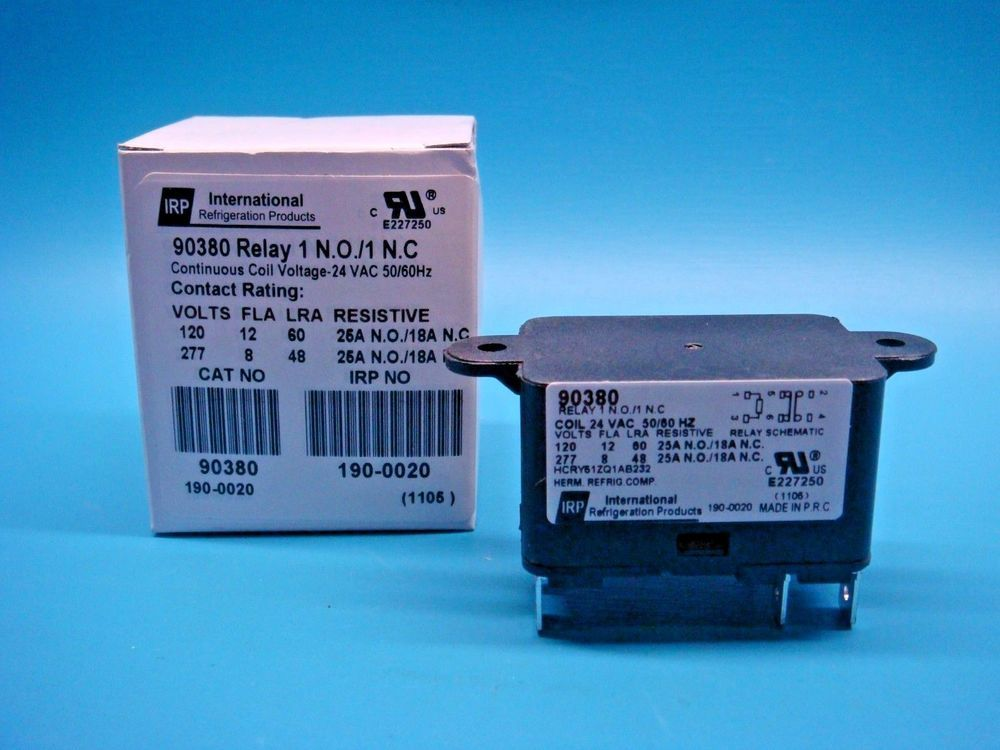 1 Irp 90380 24vac Coil Spno Spnc Heavy Duty 50 60 Hz Motor Relay Internationrefrigerationproducts Relay Hvac Vac