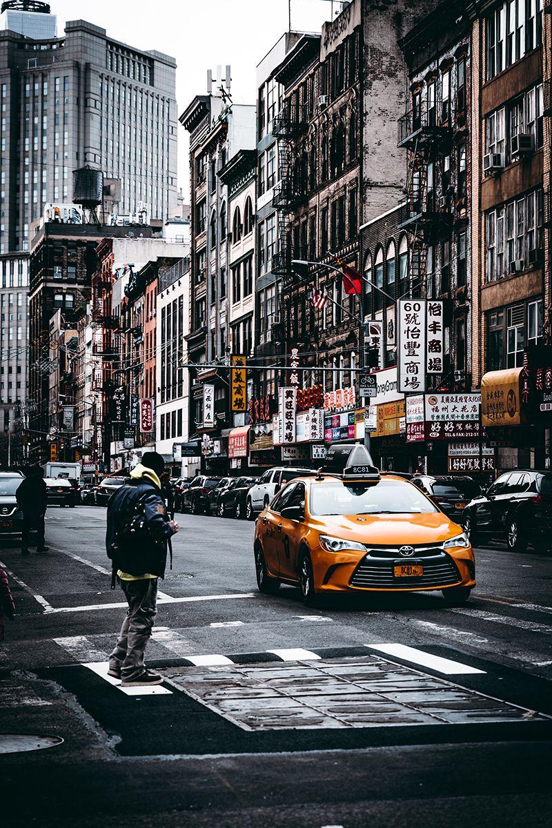 Autopart Modification Toyota Ninte Yellow Cabs Photo Manhattan Skyline