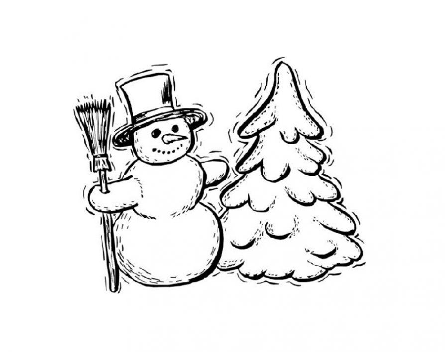 Раскраска снеговик ребенку - Сайт для мам малышей ...