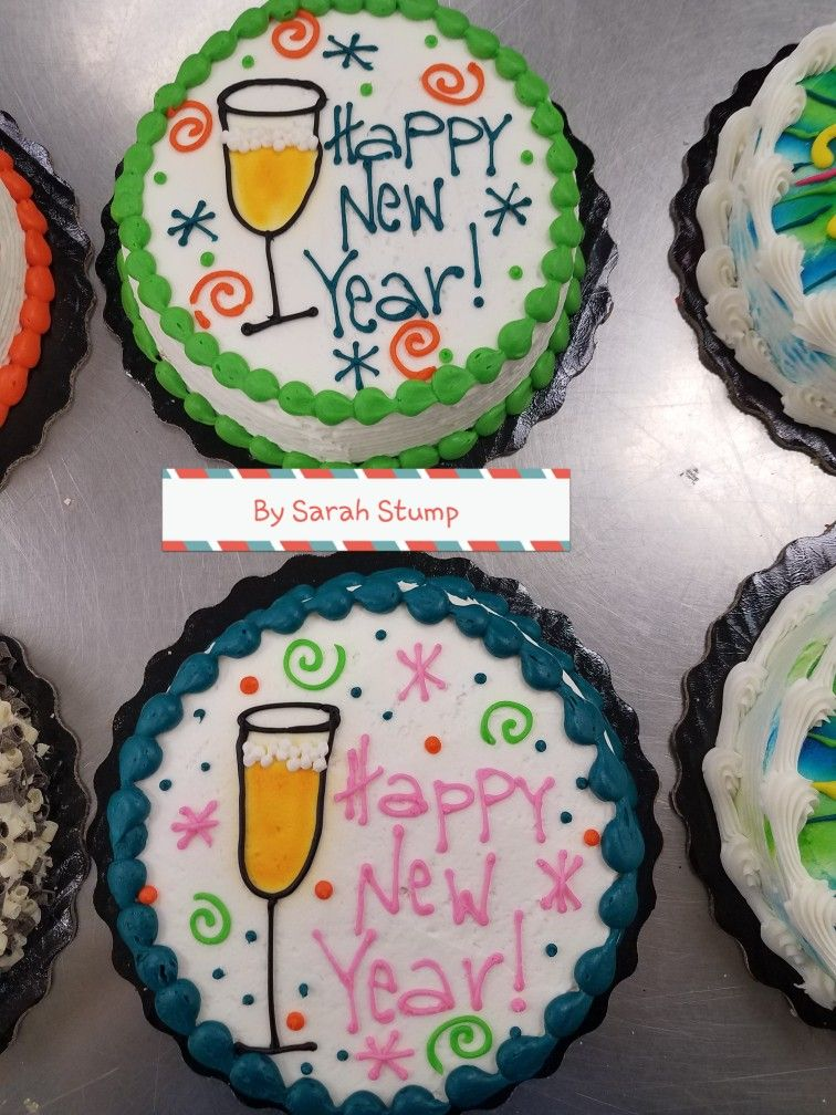 Champagne Flute New Years Eve Cake Buttercream By Sarah Stump