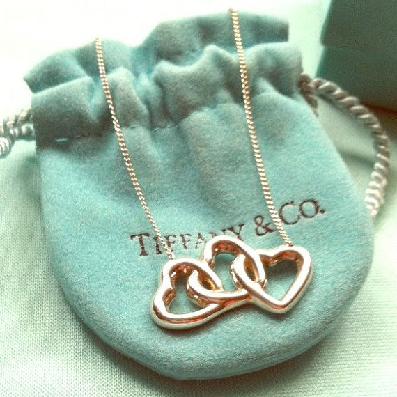 380d28b685dfb WEEKEND SALE! Rare Retired Tiffany And Co. Triple Hearts Necklace on ...