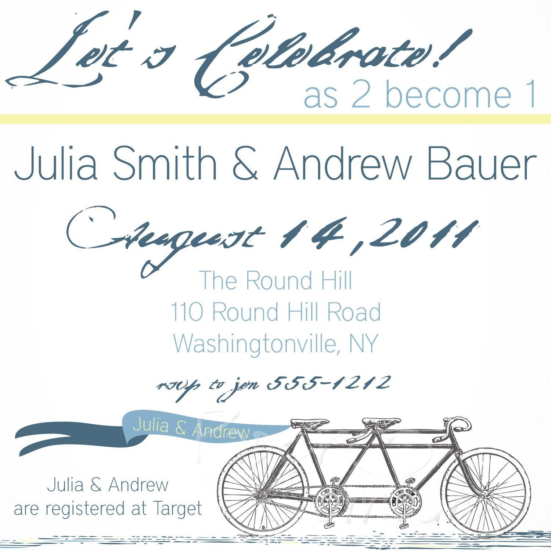 Tandem bicycle bridal showerjack jill showereviteparty tandem bicycle bridal showerjack jill showereviteparty invitation you filmwisefo Choice Image