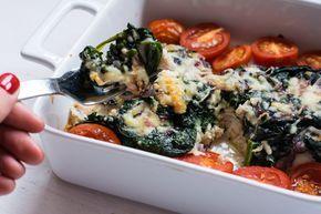 Low Carb Lachs Spinat Tomaten Auflauf Rezept Fisch