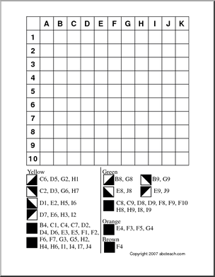 Grid Coloring - follow the directions and color the grid to make the ...