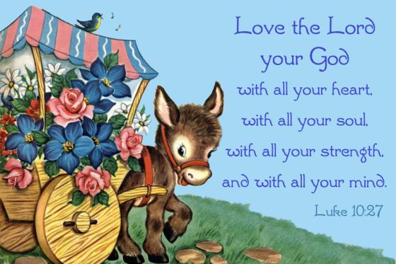 Free Printable Christian Message Cards U2013 Love The Lord Your God