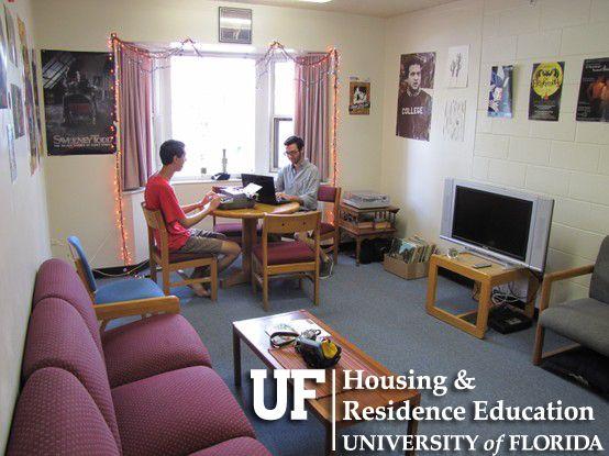Housing Residence Education University Of Florida University Of Florida Apartment Living Room Sorority Dorm