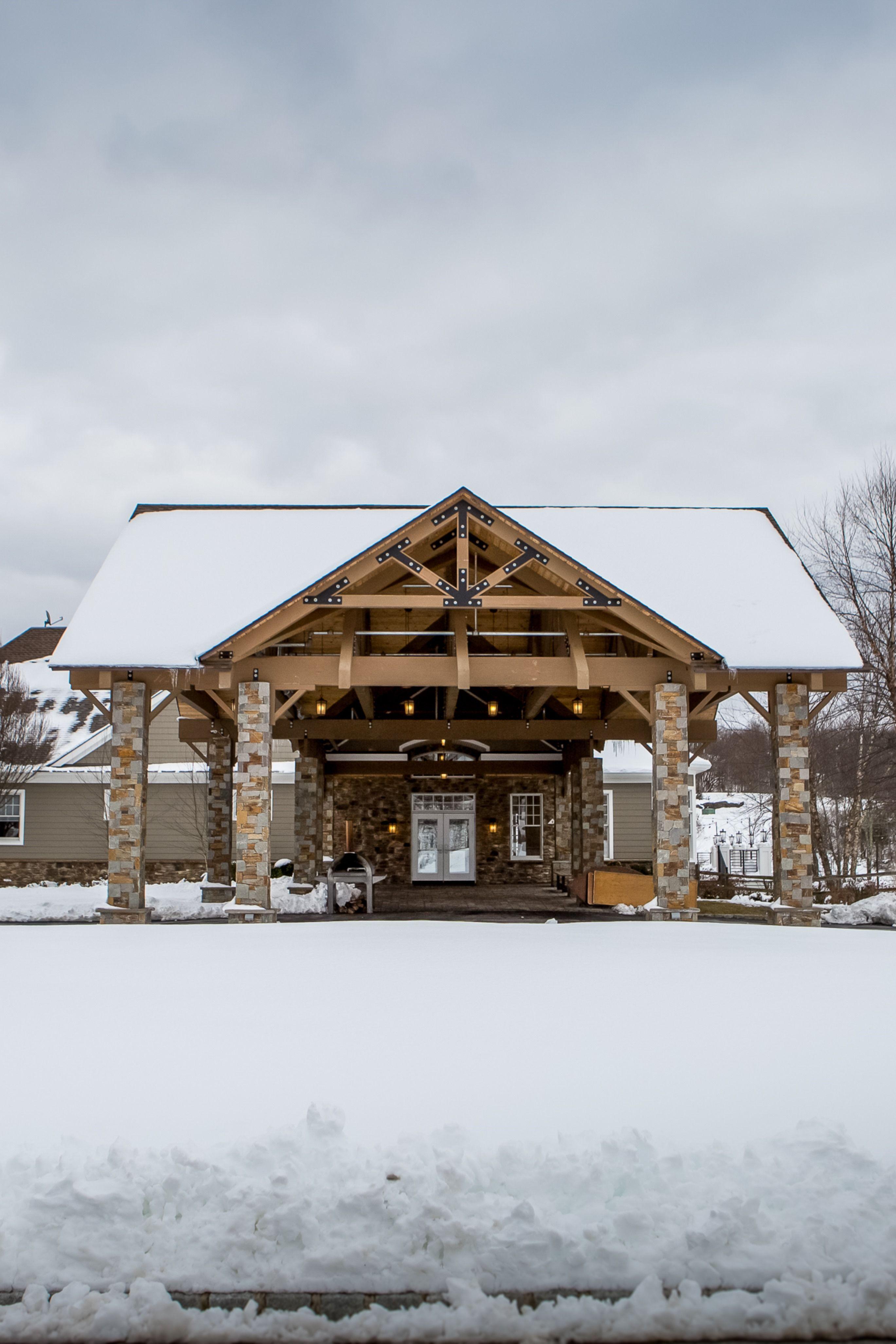 The carport at rustic wedding venue, Bear Brook Valley ...