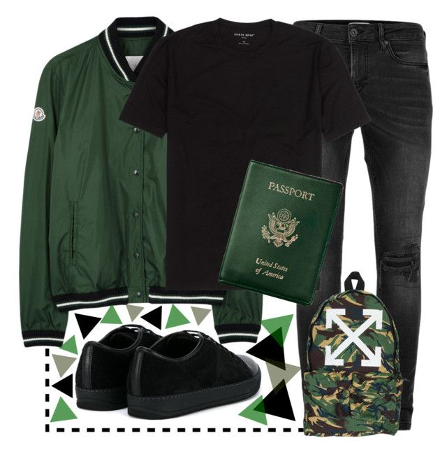"""🔋🔋🔋"" by sanela-enter ❤ liked on Polyvore featuring Topman, Moncler, Royce Leather, Off-White, Lanvin, men's fashion and menswear"