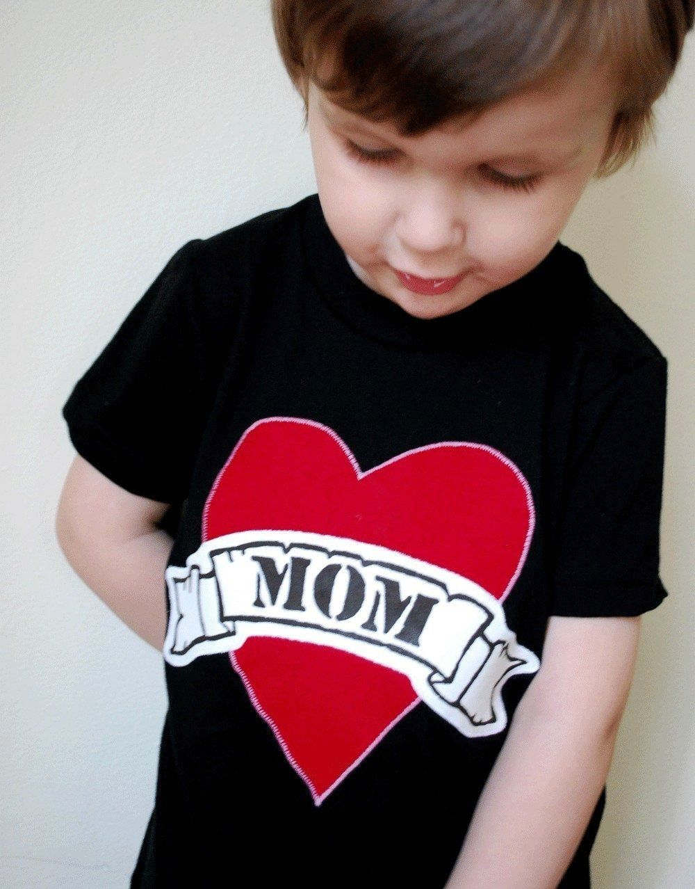 Mom Heart Tattoo Kids Toddler T-Shirt Tee Valentine/'s Day Mother/'s Day Mommy