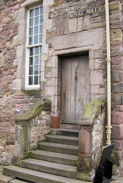 Old door Edinburgh.love the stairway. & Old door | http://myfamouscastles.blogspot.com | dooRS | Pinterest ...